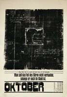 Uwe Bremer: Oktober (1966). Signierter Original-Holzschnitt.