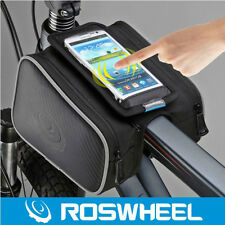 "ROSWHEEL Bike Bicycle Frame Pannier Front Tube Bag Head Top Tube Bag Black 5.0"""