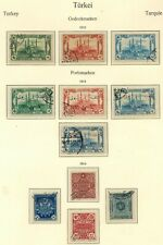 TURKEY 1913 - 1914 STAMP SELECTION X 11 USED UNCHECKED AND AS RECEIVED
