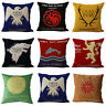 Game of Thrones Sigils House Decorative Square Pillow Case Throw Cushion Cover