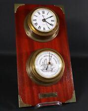 Vintage - Hanseatic Wetterstation / Barometer & Eble Uhr / Schiffsuhr #Z3