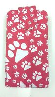 Red Footprint flip phone Case for Samsung Galaxy Young GT-S5360 UK FAST POST