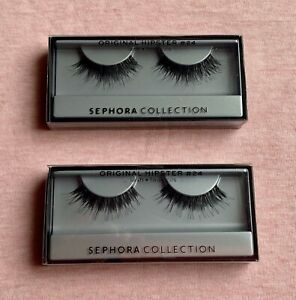2 Pair LOT Sephora Collection ORIGINAL HIPSTER #24 False Eye Lashes Long Wispy