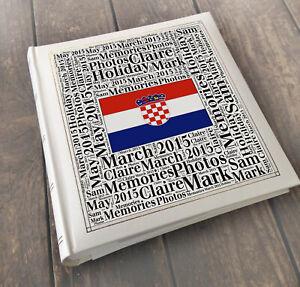 Personalised photo album Croatia, Holiday travel tourist wedding honeymoon gift
