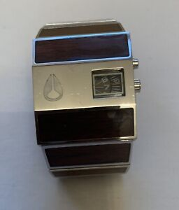 Nixon Rotolog Watch Dark Wood Working With New Battery Discontined Style