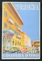 Brochure touristique VERONA HOTEL COLOMBA D'ORO Lac de Garde dépliant Tourisme