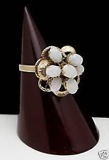 Ladies 18kt Large Yellow Gold OPAL Cluster Ring 10.5