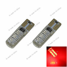 2X RED 6 Epistar LED T10 W5W Wedge Side Light  Bulb Lamp Error Free 158 12V A139