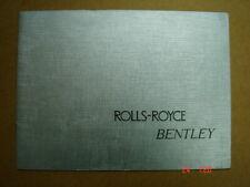 ROLLS ROYCE - BENTLEY  model range  brochure / Prospekt  1966.