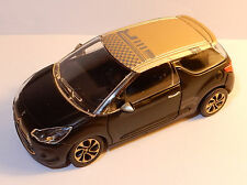 NOREV 3 INCHES 1/54 CITROEN DS3 RACING 2013/2014 BICOLORE DORE NOIRE no BOX