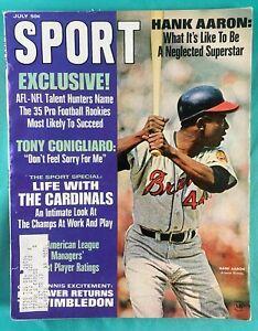 Hank Aaron Sport Magazine July 1968 - Atlanta Braves - Nice