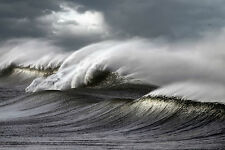Framed Print - Wicked Ocean Storm Waves Crashing (Picture Poster Sea Art)