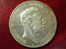 1903 Prussia Germany Large Silver 5 Mark-Kaiser Willhelm-#3