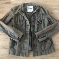 Anthropologie Hei Hei Anorak Utility Jacket Army Green Size 8