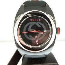 Gucci SYNC XXL (YA137101) Stainless Steel Watch with Black Rubber Bracelet