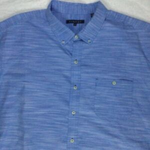 SYNRGY MENS SHORT SLEEVE DRESS SHIRT BLUE SIZE 3XL PRE-OWNED EXCELLENT