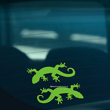 2x GECKO LIZARD Green Car,Window,Wall,Laptop JDM EURO DUB Vinyl Decal Sticker