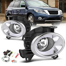 for 2013-2016 Nissan Pathfinder Clear Fog Lights Front Bumper Lamp+Wiring+Switch