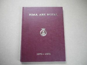 HMS ARK ROYAL COMMISSION BOOK 1970-1973  ROYAL NAVY AIR CRAFT CARRIER SHIP