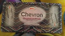 Bell Hot Pink Rhinestone Chevron Car License Plate Frame Diecast Metal NEW Bling