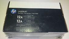NEW HP Dual 12A Q2612D OEM Genuine Black Laserjet Toner Q2612A Cartridge Sealed