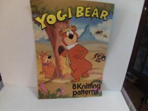 Yogi Bear – 8 Knitting Patterns 12-page Booklet 1988 boo-boo snagglepuss ranger