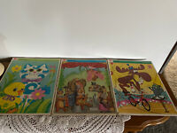 Vintage Lot of 3 Frame-Tray Puzzle Whitman 1970's