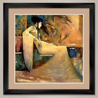 """35W""""x35H"""" DRAGON MAIDEN by JU-HONG CHEN - ASIAN - DOUBLE MATTE, GLASS and FRAME"""