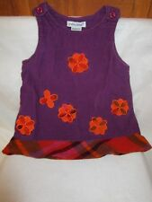 Purple and Orange Corduroy Sleeveless Jumper Lydia Jane Girl's Size 18 Months