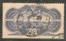 """FRANCE STAMP TIMBRE AERIEN N° 15 """"CAUDRON SIMOUN 50F BURELAGE 1936"""" OBLITERE TB"""