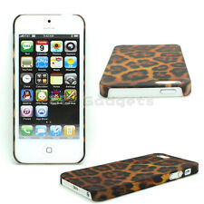 Leopard Pattern Hard Glossy Bumper Skin Case Protection Cover for iPhone 5G 5S