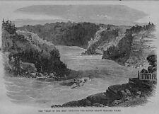 NIAGARA FALLS SHOOTING THE RAPIDS 1861 ANTIQUE, HISTORY