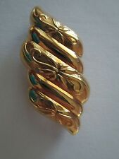 Vintage Gold Tone Detailed Scarf Clip