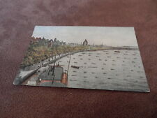 Early postcard- Thames Embankment London - with glitter