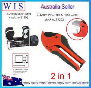 2/PK Plumbing Tool Set,3-28mm Mini Tube Cutter and 3-42mm PVC Pipe Cutter