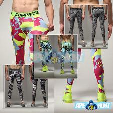 Compression Mens SHORTS   LONG TIGHTS   PANTS Running MMA Gym Bike Apparel