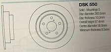 DSK550 SUBARU FORESTER/IMPREZA/LEGACY  BRAKE DISC