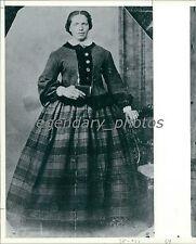 Pioneer Woman Portrait with Book Original Photo