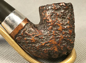 1975 PETERSON's Vintage DONEGAL ROCKY Briar SILVER Bent Estate Pipe Pipa Pfeife
