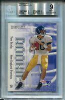 2000 Skybox Impact Football #27 Tom Brady Rookie Card RC BGS MINT 9