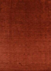 """Contemporary Hand Knotted Red Modern 8x11 Gabbeh Oriental Area Rug 11' 4"""" x 8' 1"""
