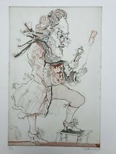 "Simon Dittrich Lithograph ""The Dentist"" ""Der Zahnarzt""very rare from 1983 Gemany"