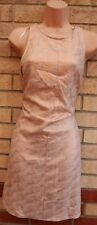 NEW LOOK PINK GOLD SMOCK SLIP BAGGY TUNIC CAMI PARTY EVENING XMAS DRESS 14 L