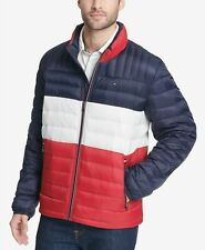 $165 NWT NEW Tommy Hilfiger Mens Quilted Packable Red...