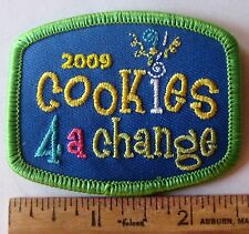 "Girl Scout 2009 COOKIE SALES PATCH ""COOKIES 4 FOR A CHANGE"" Imagine If Elephant"