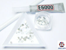 BLING KIT E6000 GLUE Cap &Nozzle,72pcs SS16 Swarovski Crystals Converse Gems