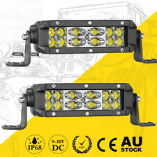 "2x 6"" Super Slim LED Work Light Bar Cree Combo 6000K Driving Fog Truck ATV 4WD"