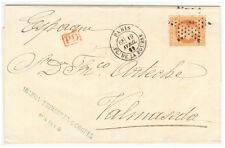France cover 1869 Paris to Valmaseda (SP)