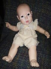 """Vintage 1985 Doll Hasbro Realistic Real Baby J Turner 20"""" 1985 Original Outfit"""