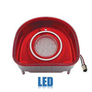 68 Chevy Bel Air Biscayne Red White LED Rear Tail Back Up Light Lens Lenses Trim